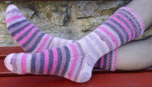 roosad villased sokid, woollen socks